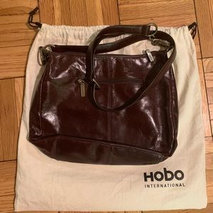 HOBO like-new leather bag in chocolate brown